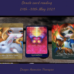 photo of cards drawn for oracle reading 24th to 30th May 2021
