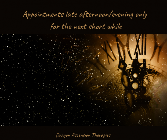 slight change to appointment availability for a short while