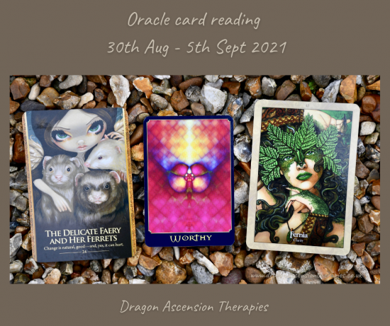 the three cards drawn for 30th August to 5th September
