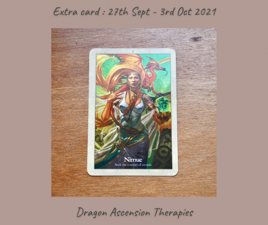 extra card drawn for 27th September to 3rd October
